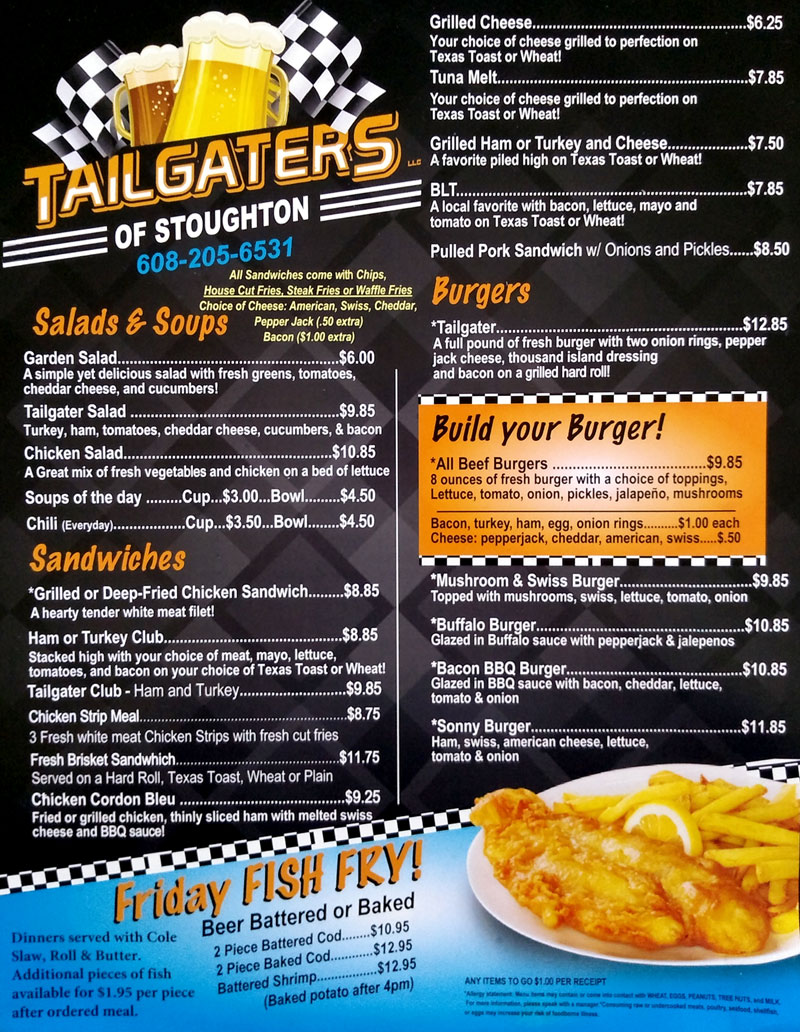 Stoughton Tailgater's Bar & Grill